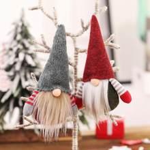 Noel ağacı asılı süsleme noel yüzü olmayan Gnome Santa noel ağacı asılı süsleme bebek dekorasyon ev için