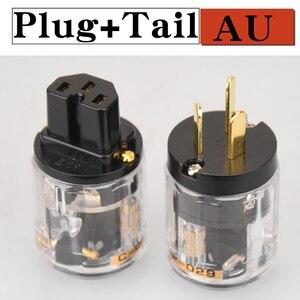 Image 4 - Hifibricolage LIVE ue/US/AU pur cuivre plaqué or prise de courant connecteur de queue pour HIFI Audio alimentation connecteurs de fil transparence