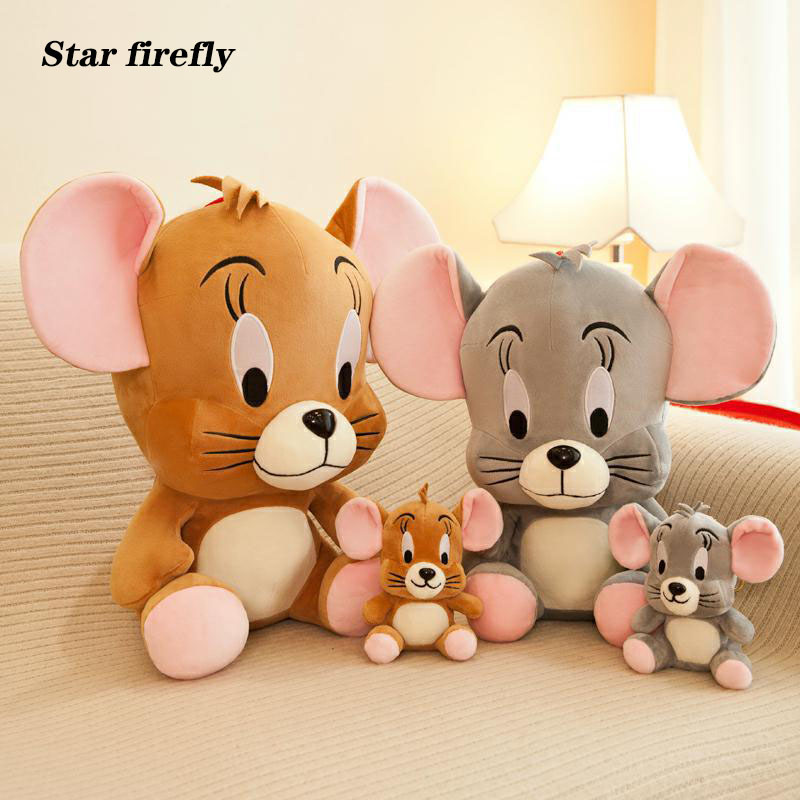 15-45cm High Quality Jerry Cat And Mouse Doll Plush Toy Cute Stuffed Plush Toy For Kids Gifts Soft Touch Toys