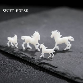 5Pcs Silicone Mini Running Horse Modeling Resin Mold Landspace Fillings Jewelry Casting Art Craft