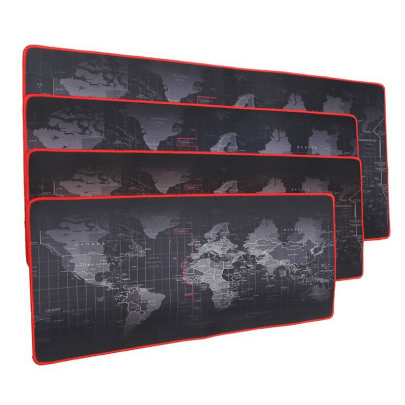 Large Size  Durable Gaming Mouse Pad  Computer Mouse Pad World Map Natural Rubber Mause Pad Keyboard Desk Mat Gamer Desktop