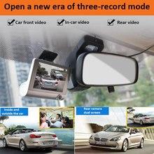 TOSPRA 4.0 Inch Car DVR 3 Camera Full HD 1080P Dual Lens Rearview Video Camera Recorder Auto Registrator Night Vision Dash Cam