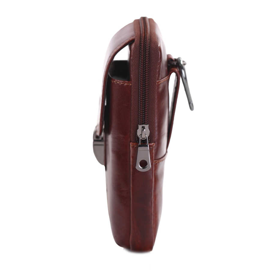 YI'ANG Marke Echtem Leder männer Taille Gürtel Fanny-Pack Tasche 7' Zelle Handy Brieftasche Tasche Fall Abdeckung Für iphone 6X, 7p X