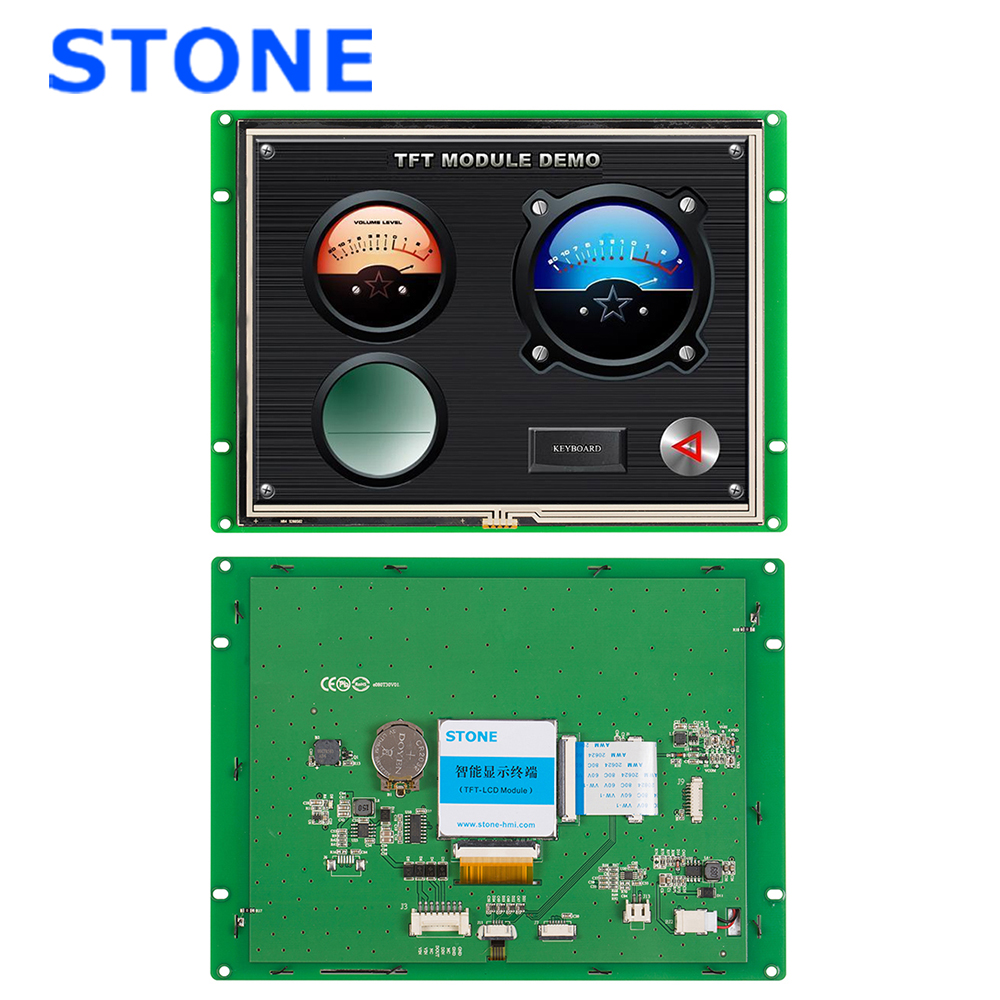 7.0 Inch Open Frame Wall Mount Resistive HMI Touch Screen LCD Monitor For Industrial Control 100PCS