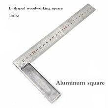 300mm combinação régua ângulo quadrado ajustável transferidor de aço ângulo direito régua carpinteiro ferramentas medição diy profissional