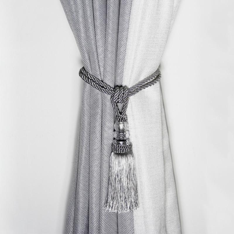 1pc rope curtain tieback curtain tassels fringe tie backs holdbacks window drapes curtain supplies rope room accessories