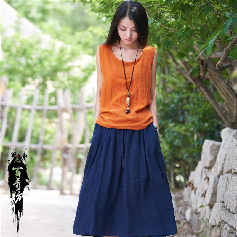 Read Baixiufang 2019 Spring And Summer Cotton Linen WOMEN'S Dress New Style Literature And Art Fresh Versatile Origional Cotton