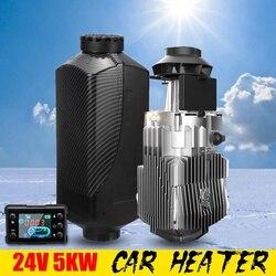 Автомобильный нагреватель 24 В, 5 кВт, автомобильный стояночный воздушный топливный нагреватель, 1 отверстие, 5000 Вт, для RV лодки, дома на колес...