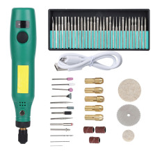 USB Rechargeable Speed Control Electric Grinder Machine Set Kit For Carving Polishing And Trimming Jade DIY Manicure Polishing