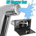 Kit chuveiro rv com varinha para casa, acessórios para caravana, chuveiro e barco marítimo, quente e frio, 1 conjunto torneira