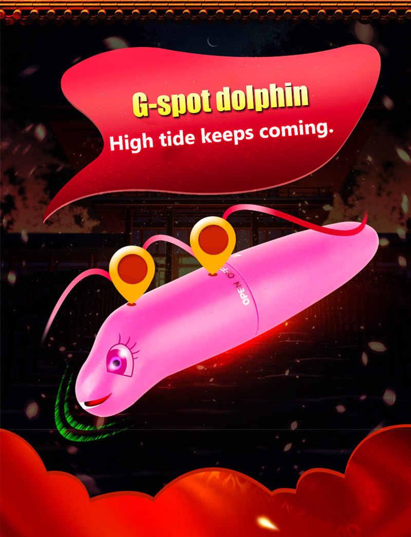 Tahan Air Vibrator Dolphin Bentuk Mainan Seks untuk Wanita Merangsang G-Spot untuk Klimaks untuk Masturbasi Wanita Dewasa Seksual barang