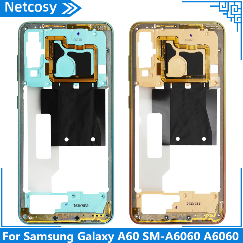 For <font><b>Samsung</b></font> <font><b>Galaxy</b></font> <font><b>A60</b></font> <font><b>SM</b></font>-<font><b>A6060</b></font> <font><b>A6060</b></font> Middle Frame Plate Bezel Housing Frame Case For <font><b>Galaxy</b></font> <font><b>A60</b></font> Housing Cover Replacement image