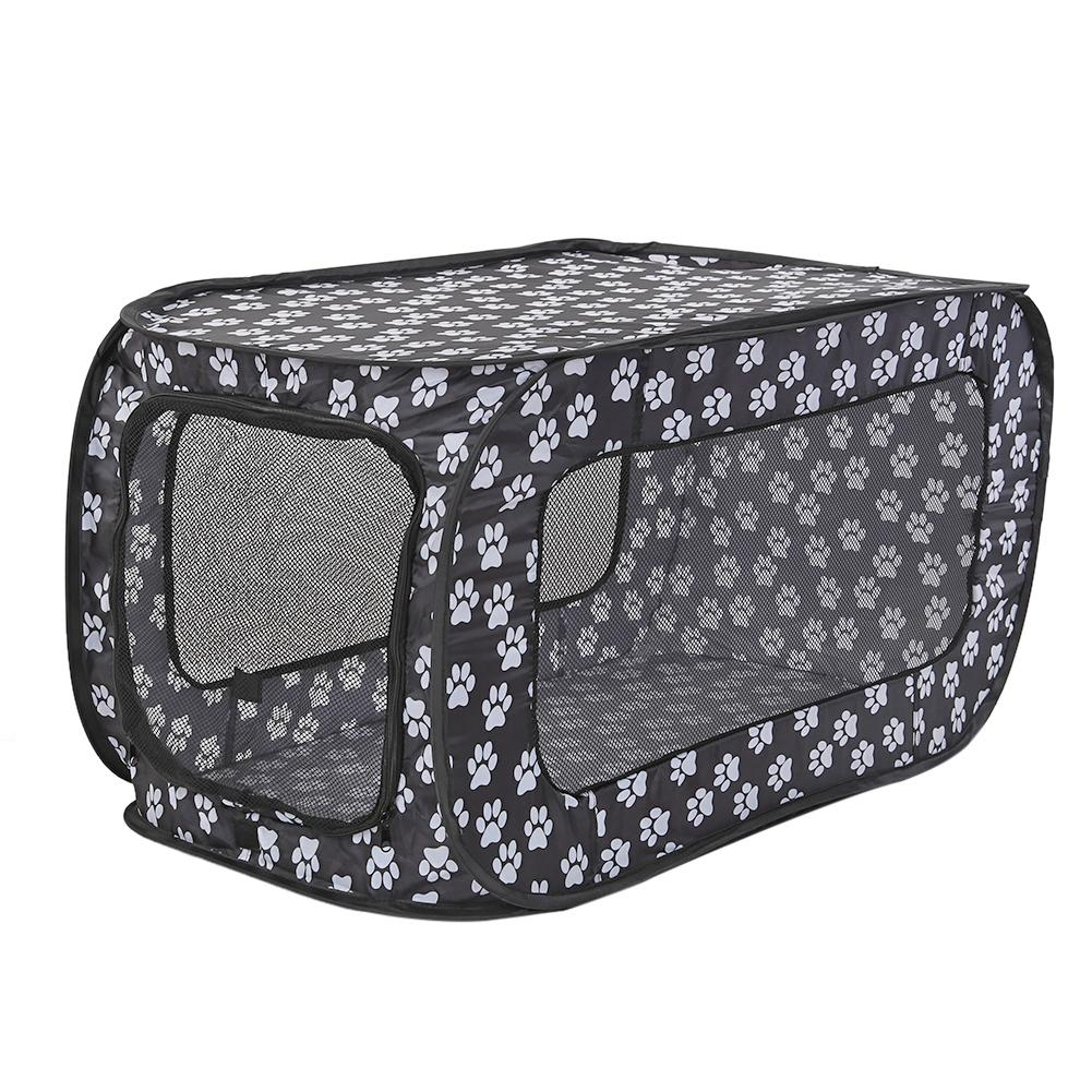 <font><b>Portable</b></font> Folding Pet Tent Houses Foldable Pet Fence Cat <font><b>Dog</b></font> Travel Cage Rectangular <font><b>Dog</b></font> Cage Playpen Outdoor Puppy <font><b>Kennel</b></font> 87CM image