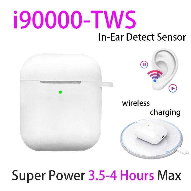 Original i90000 TWS 1:1 in-ear Bluetooth 5.0 écouteur sans fil casque d'écoute PK W1 H1 puce Aire2 audifono para celulaire elari