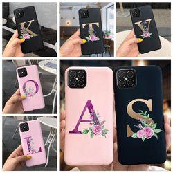Cute Flower Letter For Huawei Nova 5T Case Cover Nova 5 T 7i 8 SE 3i Soft TPU Silicone Phone Fundas Case Back Cover Nova5T Coque