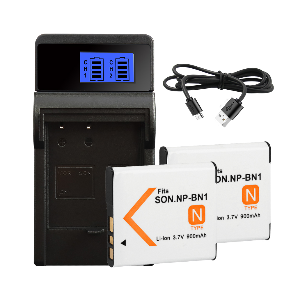 NP-BN1 Battery For <font><b>SONY</b></font> <font><b>DSC</b></font> WX5 TX9 T99 TX7 TX5 W390 W380 W350 <font><b>W320</b></font> W360 QX100 900amh NP-BN1 NP BN1 Charger Battery image