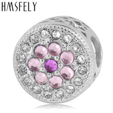 HMSFELY European Charm Crystal Beads For DIY Bracelet Jewelry making Accessories Bead 316l Stainless Steel Big Hole