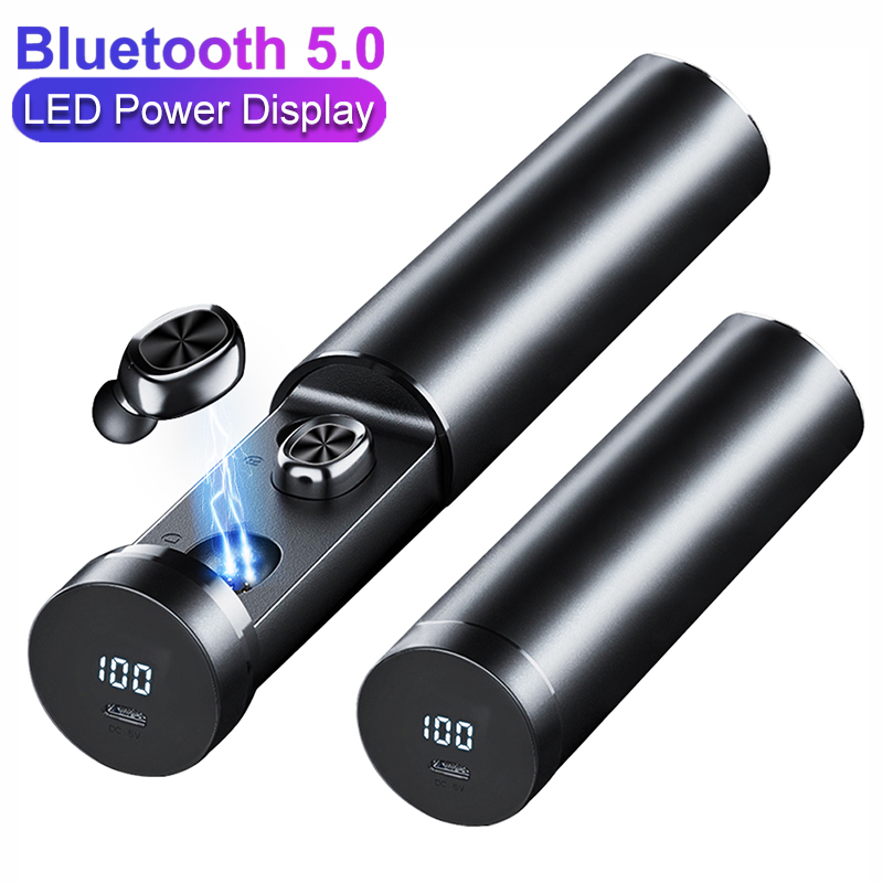 B9 TWS Bluetooth 5.0 Earbuds Power Display Wireless Earphone HIFI Sport Earbuds with MIC Gaming Music Headset For iOS&Android image
