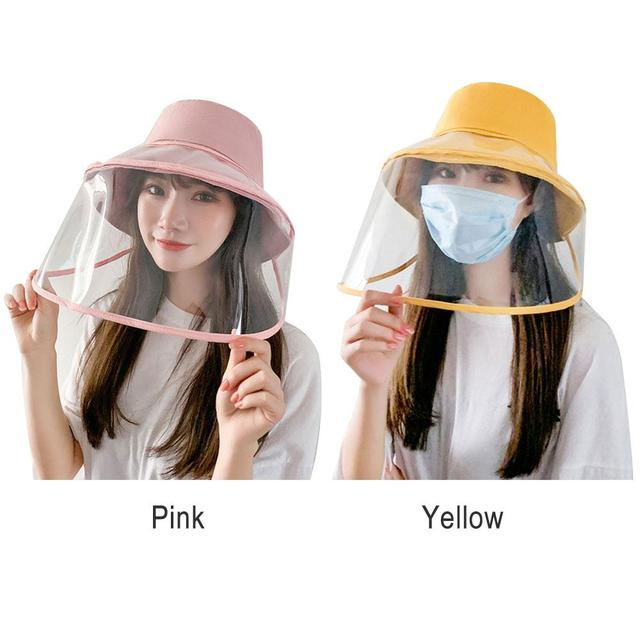 Protection Hat Hat with Face Shield Safety Anti-Saliva Anti-Fog PU Transparent Removable Lightweight Comfortable Breathable 5