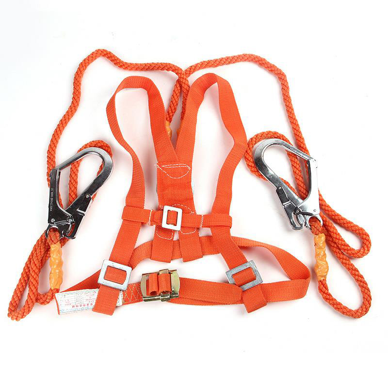 Electrician Safety Belt Single Hook Seat Belt Double Back Frame Long Rope For Labor Work Building Protection Equipment DAQ002