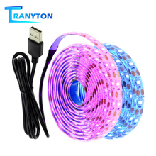 5V USB LED Strip 2835 Light Flexible 50CM 1M 2M 3M White Warm White Ice lue Purple Pink RGB for TV Background Fairy Night Tape