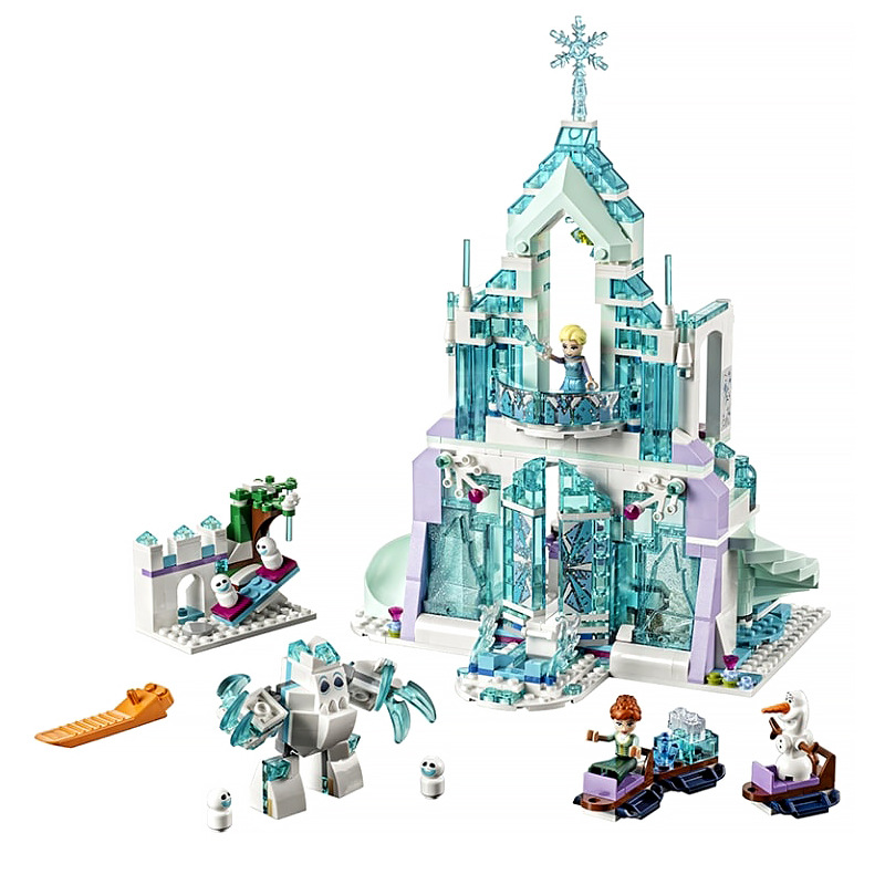 41165 Free shipping  25002 Elsa Anna Magical Ice Castle Model Building Blocks Cinderella Princess Castle Legoinglys Friends