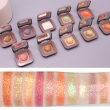 Novo Shimmer Glitter Eye Shadow Palette Polarize Shine Makeup Single Eyeshadow Sparkling Duochrome Pigment Powder Cosmetics