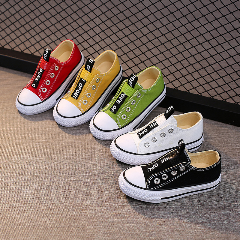 Children Canvas Shoes Girls Sneakers Buty Breathable Spring Fashion Kids Shoes For Boys High Casual Shoes  Toddler Girl Zapatos