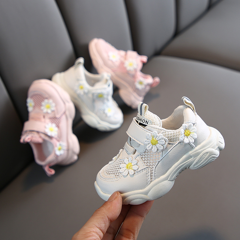 Spring Girl Casual Sports Shoes Flower Princess Breathable Running Shoes Children's Shoes  Infant Shoes