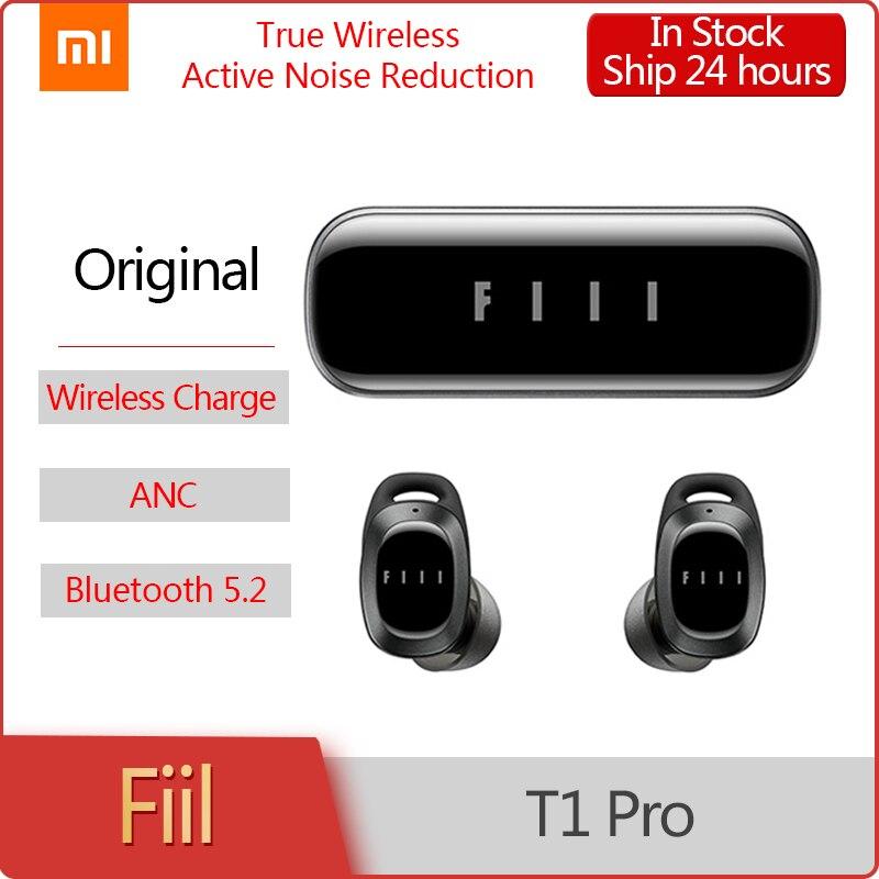 Oryginalny FIIL T1 Pro prawdziwe bezprzewodowe wkładki douszne aktywna redukcja szumów Bluetooth 5.2 wodoodporne słuchawki podwójny tryb słuchania słuchawki