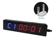 黒電子タイマーカウントダウンアラームツールスポーツジムリモコン角型 Lcd ディスプレイアルミデジタル時計多機能 -