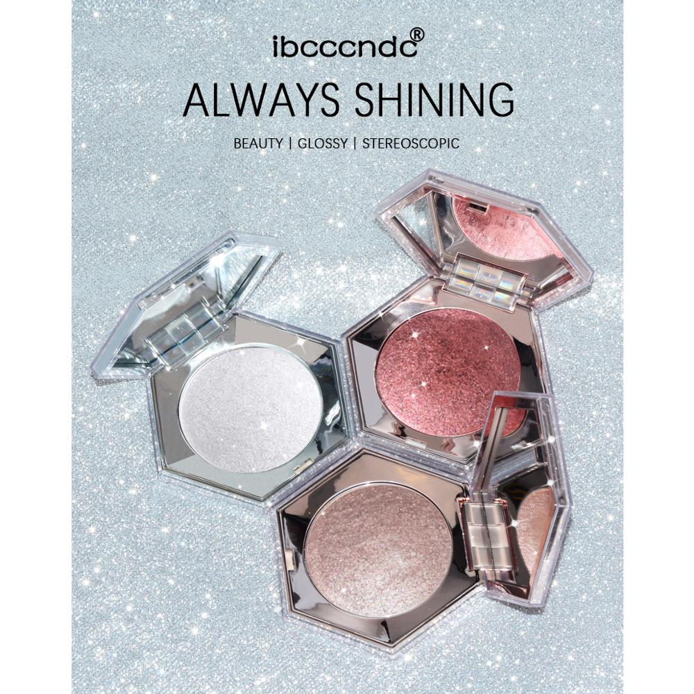 New Diamond Bright Highlighter Powder Palette 3 Colors High Gloss Shimmer Bronzer Repair Haileyter Pallet Makeup Cosmetic