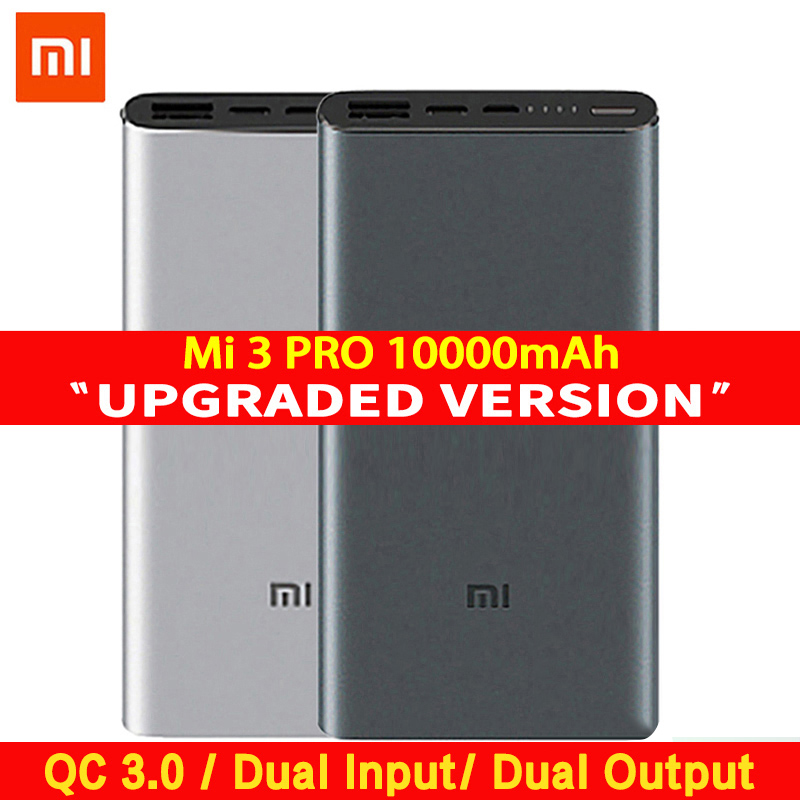 Original Xiaomi <font><b>Mi</b></font> <font><b>10000</b></font> mAh <font><b>Power</b></font> <font><b>Bank</b></font> 3 2 Pro USB-C Two-way Quick Charge 18W Dual Input Output PLM12ZM Xiaomi <font><b>10000</b></font> mAh image