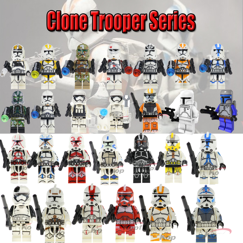 For Legoelys Star Wars Figures Battle Droid Grievous Han Solo Zander Clone Trooper Yoda Starwars Action Building Blocks Toys S