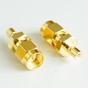 Smb para sma conector soquete antenas smb macho para sma macho plug smb-sma ouro chapeado latão reto rf adaptadores coaxiais