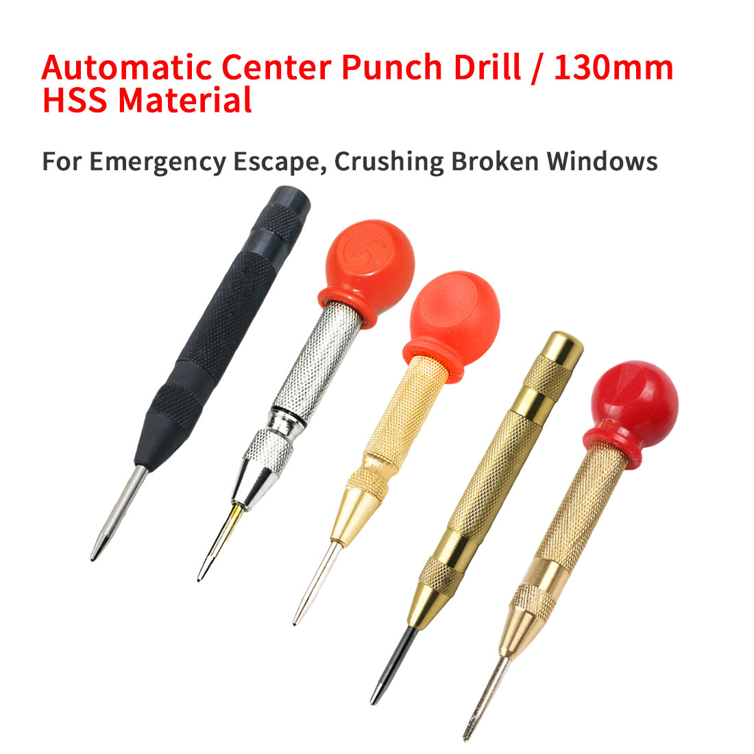 1pc Automatic Center Punch Drill Center Punch Drill Bit Tools Break Device Positioner For Automatic Window Breaking Device
