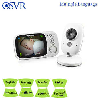 Multi-language Wireless Video Color Baby Monitor High Resolution Baby Nanny Security Camera Night Vision Temperature Monitoring
