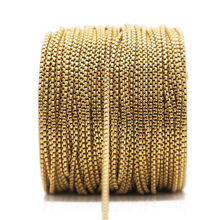 2Meter Stainless Steel Gold Chains for DIY Jewelry Making Supplies Necklace Findings Hand Made Bracelet Anklet Accessories