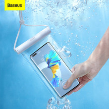 Baseus Waterproof Phone Case for iPhone 12 11 Pro Max Samsung Xiaomi Redmi Swim Water Proof Phone Pouch Bag Case Universal Cover