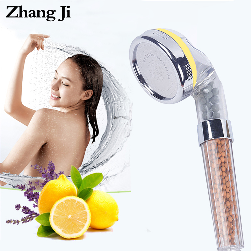 ZhangJi Bathroom Aroma Shower Head Vitamin/Lemon/Lavender/Rose Scent High Pressure Saving Water Fragrance Filtration Bath Shower