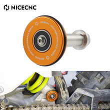 NICECNC PDS Swingarm Swing Arm Saver Protector Roller For KTM 150 250 300 XCW EXC 6 Days TPI 250 350 450 500 EXC-F XCF-W 17-21