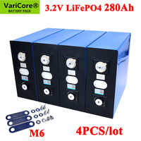 4PCS VariCore 3.2V 280Ah lifepo4 battery DIY 12V 280AH Rechargeable battery pack for Electric car RV Solar Energy storage system