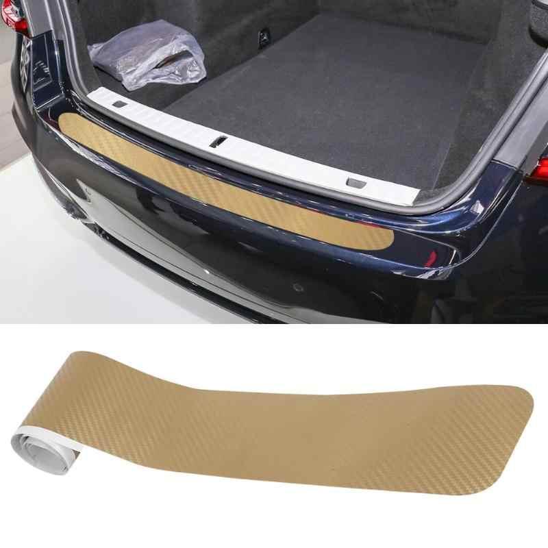 Auto impermeable parachoques trasero labio trasero fibra de carbono protección pegatinas Universal hecho de fibra de cartón artificial