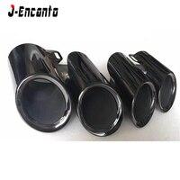 Alta qualidade 304 dicas de escape aço inoxidável silenciador modificado cauda garganta tubo para porsche panamera gts 971 2017 2018 2019|Silenciadores| |  -