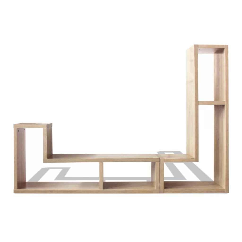 Hot Modern Table For Tv Living Room Tv Furniture High Quality Vidaxl L Shaped Oak Tv Cabinet Bookcase Adjustable Many Shapes