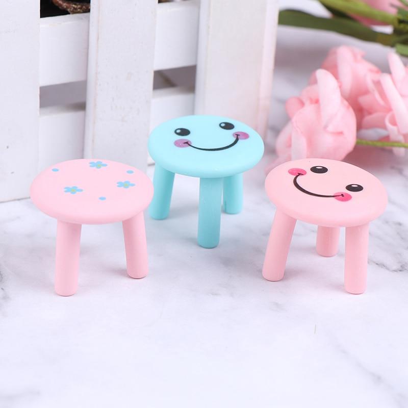 Nouveau 112 Simulation Mini canapé tabouret chaise siège rond modèle jouets pour maison de poupée décoration 1/12 maison de poupée Miniature accessoires