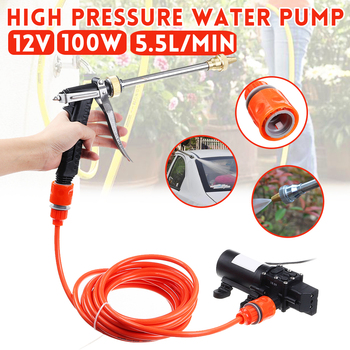 12V 100W Car Washer Guns Pump High Pressure Cleaner Electric Cleaning Auto Device Car Care Portable Washing Machine image