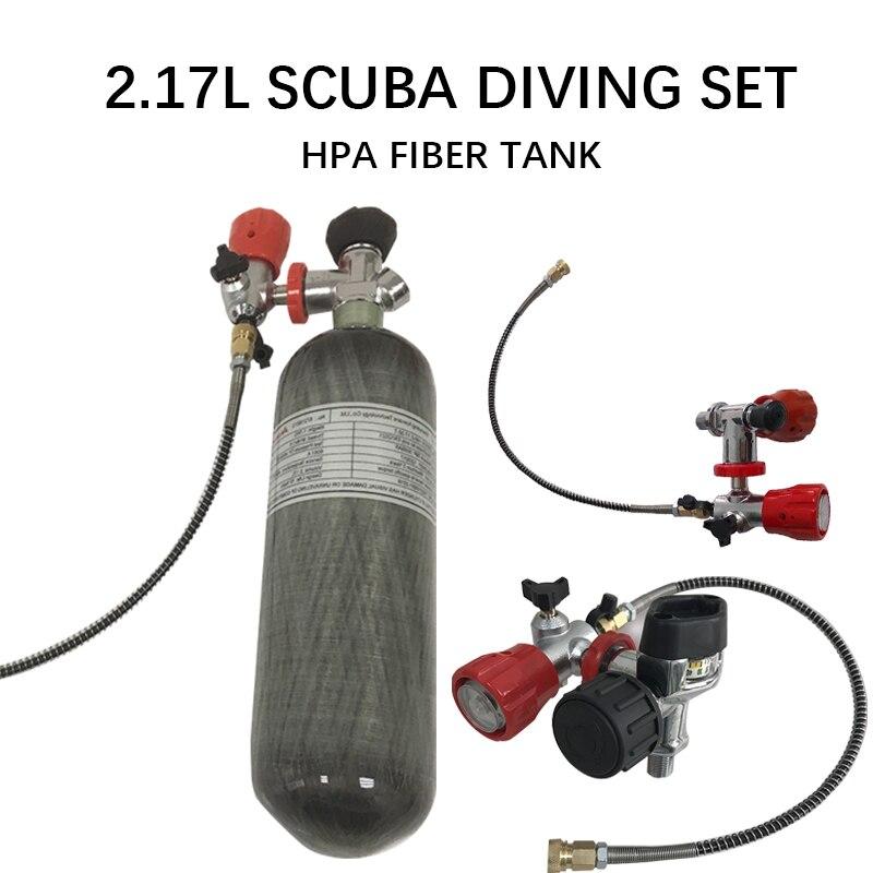 Acecare 2.17L Mini Scuba Diving Set Scuba Oxygen Cylinder Air Tank Cylinder Valve Hpa Fiber Gas Air Rifle/Air Condor Pcp Airgun