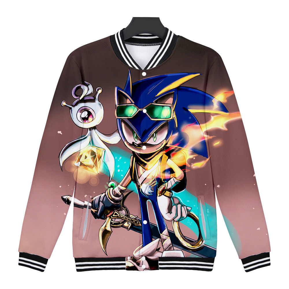 Wintet Mens Bomber Jackets 2020 Sonic The Hedgehog Baseball Jacket Outerwear Sonic Men Hoodies Sweatshirts Cosplay Anime Clothes Aliexpress