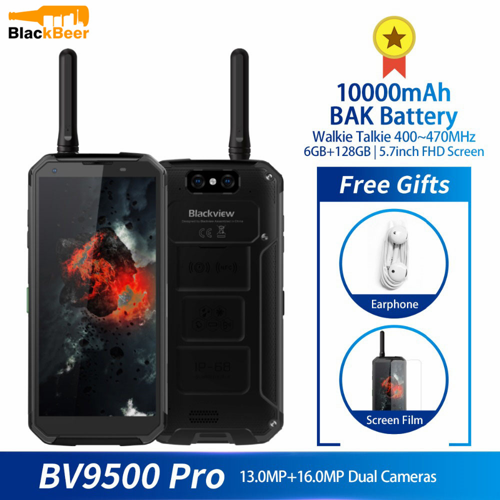 Blackview BV9500 Pro Waterproof Walkie Talkie <font><b>Smartphone</b></font> 6GB RAM 128GB ROM Octa Core 5.7